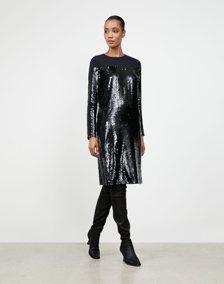 Lafayette 148 New York Petite Spectrum Sequins Annelise Shift Dress