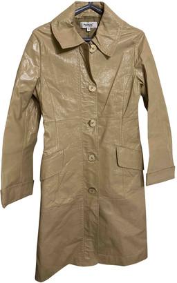 Hoss Intropia Beige Leather Coats