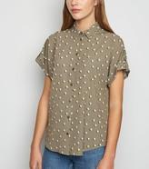 New Look Abstract Spot Print Short Sleeve Shirt