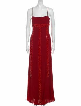 Akris Silk Long Dress Red