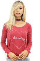 Chaser Saturday Love Knit Sweater in Cardinal