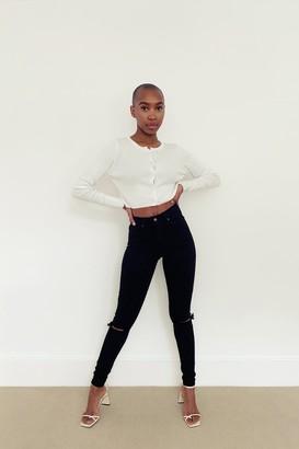 Topshop Womens Tall Black Jamie Skinny Jeans - Black