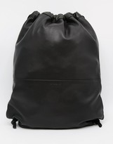 SANDQVIST Leather Drawstring Backpack