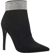 Carvela Gentry Embellished Pointed Toe Ankle Boots, Black
