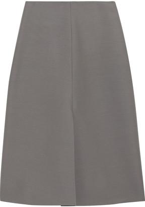 The Row Bea Wool And Silk-blend Cady Midi Skirt