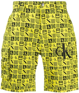 Calvin Klein Jeans Logo-Print Shorts
