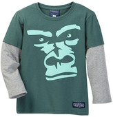 Toobydoo Wild Bunch Long Sleeve Gorilla 2fer Tee (Toddler & Little Boys)