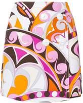 Emilio Pucci printed button-front mini skirt