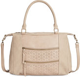 Style&Co. Style & Co. Airyell Daisy Perforated Satchel, Only at Macy's