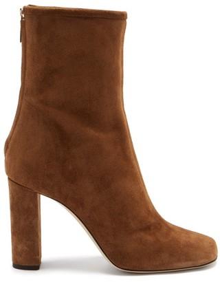 Paris Texas Square-toe Suede Ankle Boots - Tan