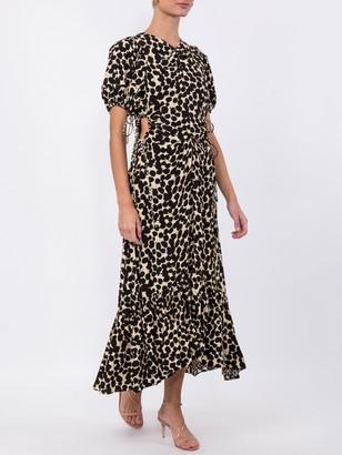 Proenza Schouler Ruched Cut-out Midi Dress
