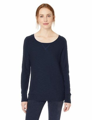 Daily Ritual Amazon Brand Women's Lightweight Open-Crewneck Raglan Pullover Sweater