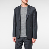 Paul Smith Men's Mid-Fit Grey Windowpane-Check Wool Blazer