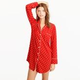 J.Crew Knit nightshirt in polka dot
