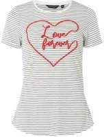 Dorothy Perkins Womens Navy and Ivory Striped Motif T-Shirt