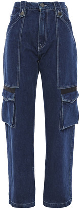 House of Holland High-rise Wide-leg Jeans