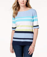 Karen Scott Striped Boat-Neck T-Shirt, Created for Macy's