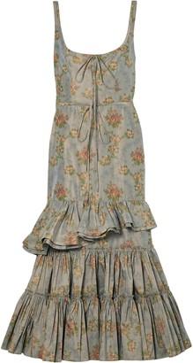 Brock Collection Onilde Tiered Floral-print Cotton-blend Poplin Maxi Dress