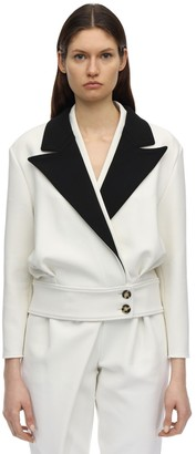Proenza Schouler Stretch Wool Contrast Jacket
