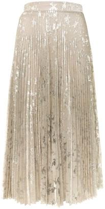 Blumarine Metallic Pleated Skirt
