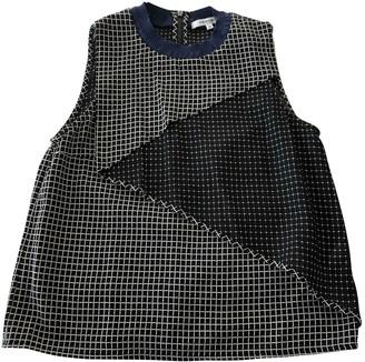 Carven Black Silk Top for Women