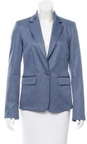 Alice + Olivia Notch-Lapel Chambray Blazer