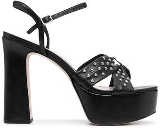 Schutz Studded Platform Sandals