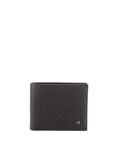 Giorgio Armani Caviar Leather Bi-Fold Wallet