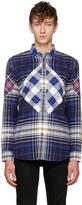 Givenchy Blue Tartan Check Shirt