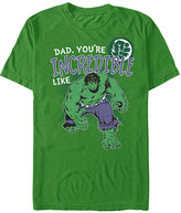 Fifth Sun Men's Tee Shirts KELLY - The Incredible Hulk Kelly Green 'Dad, You're Incredible Like...' Tee - Men