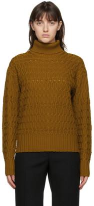 Victoria Beckham Brown Wool Turtleneck