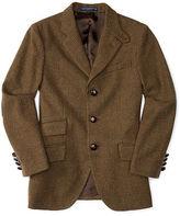 Ralph Lauren Suede-Trim Wool Sport Coat