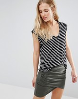 Pam & Gela Kate Striped Muscle Tee