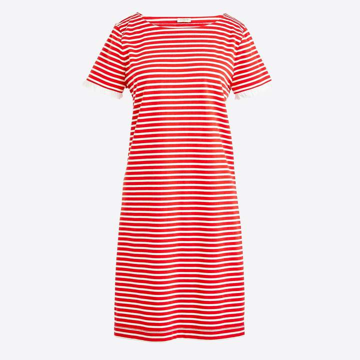 J.Crew Striped poplin-trimmed dress