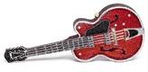 Judith Leiber 'Red Devil' guitar crystal pavé minaudière