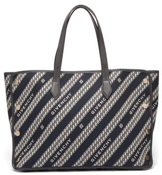 Givenchy Bond Medium Logo-jacquard Canvas And Leather Bag - Blue