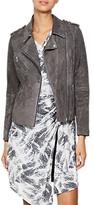 Mint Velvet Multi Zip Biker Jacket, Dark Grey