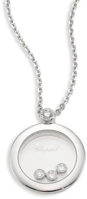 Chopard Happy Diamond & 18K White Gold Round Pendant Necklace