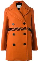 3.1 Phillip Lim whipstitch peacoat - women - Cotton/Acrylic/Polyamide/Virgin Wool - 4