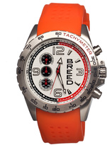 Breed Silver & Orange Touring Chronograph Watch