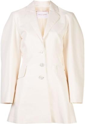 Carolina Herrera Single-Breasted Back Bow Blazer