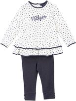 Tommy Hilfiger White & Dark Gray Dot Tunic & Leggings - Infant