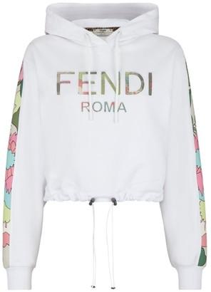 Fendi Logo Drawcord Hoodie