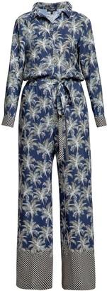 Rumour London Tammie Jungle Print Shirt Style Jumpsuit