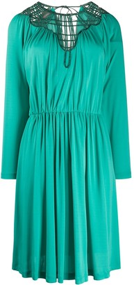 Alberta Ferretti Woven Neckline Dress