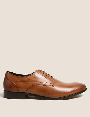 Marks and Spencer Leather Almond Toe Derby Shoes