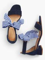 Talbots Naomi Scarf-Tie-Denim Sandals