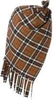Jacquemus checked asymmetric skirt - women - Polyester/Acetate/Wool - 36