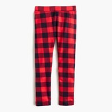 J.Crew Girls' cozy everyday leggings in buffalo check