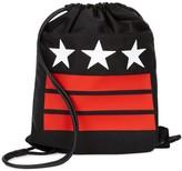 Givenchy Black Star-print Canvas Drawstring Bag